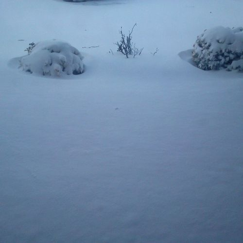 3 inches of the white stuff, so pretty, so danged cold.... Ocmd