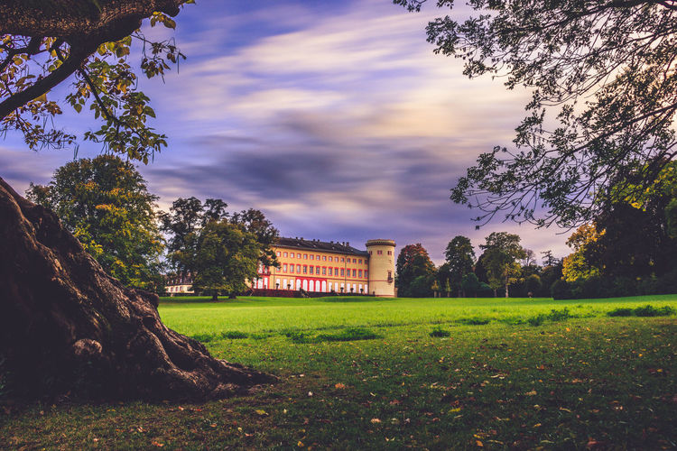 Architecture Castle Herrnsheimer Schloss Nature Sky And Clouds Tree Building Exterior Built Structure Sky