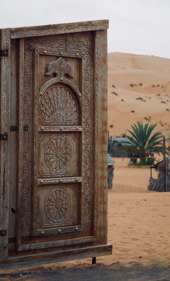 Door Wahiba Sands, Magical Tranquil Place Outdoors No People Tranquility Travel Destinations Oman Desert