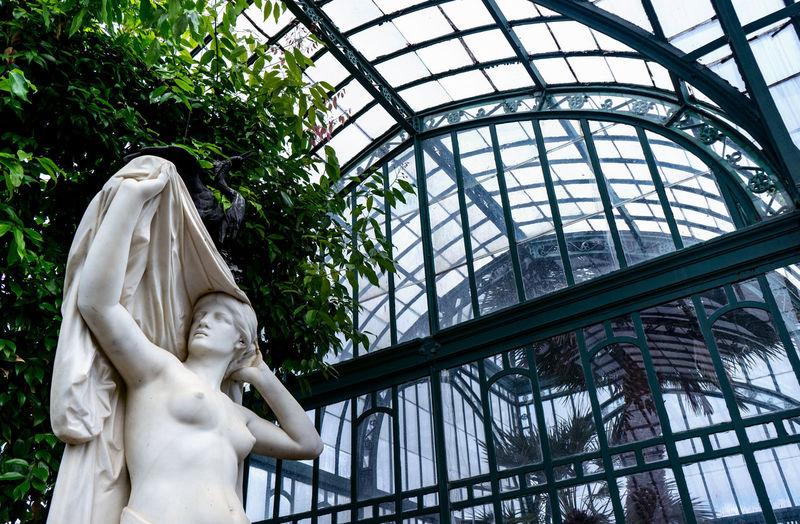 Green Color Laeken Serres De Laeken (Brussels). Statue Arts Built Structure Greenhouse Metal