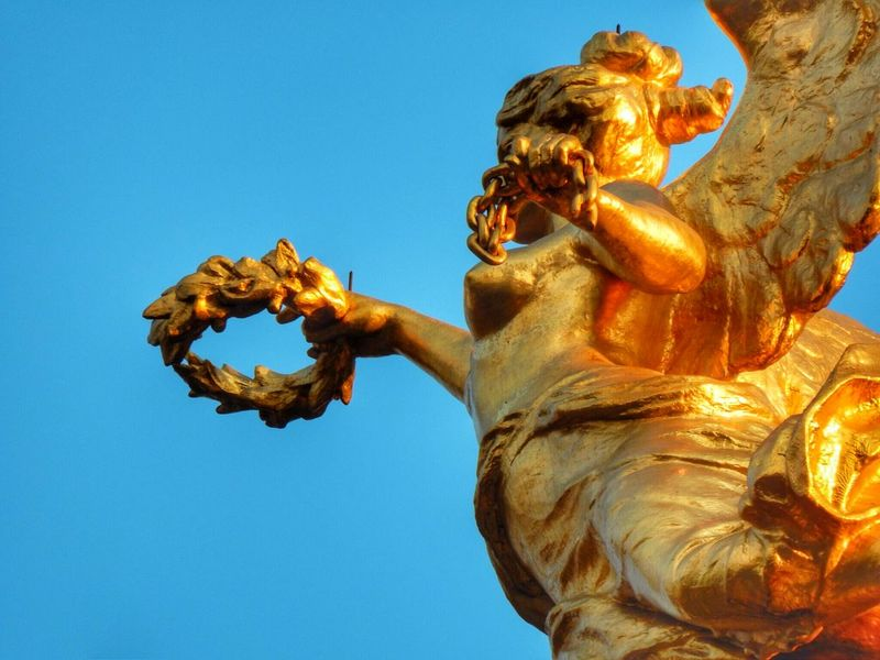 Una guirnalda para ti de victoria. Angel De La Independencia Paseo De La Reforma Ciudad De México