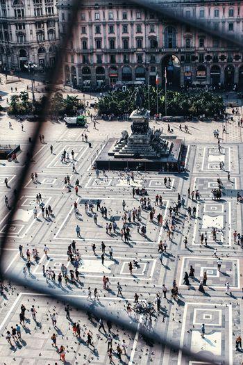 Duomo square in milan