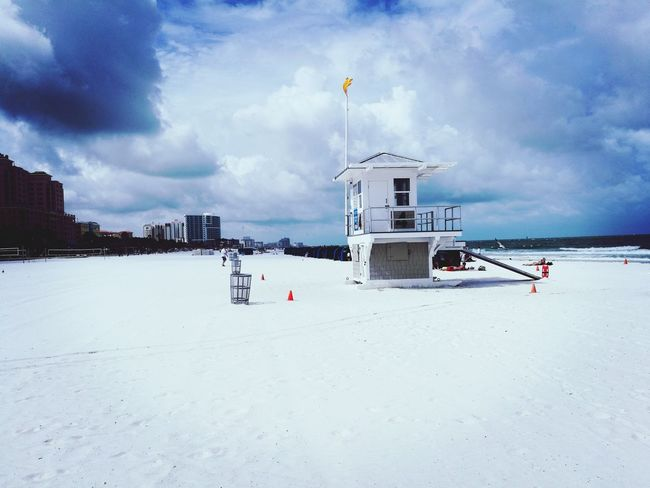 Cloud - Sky Beach Outdoors Sea Lifeguard Hut Sand No People Beachphotography Beautiful Sandbetweenmytoes Sky Finally DreamTrip Clearwaterbeach Florida I Made It  Breathing Space Investing In Quality Of Life EyeEmNewHere The Week On EyeEm Mix Yourself A Good Time Your Ticket To Europe Eyemmarket Second Acts Perspectives On Nature Be. Ready. Rethink Things