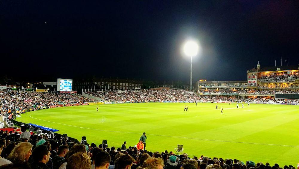 Night Stadium Sport Spectator Illuminated Cricket Ground