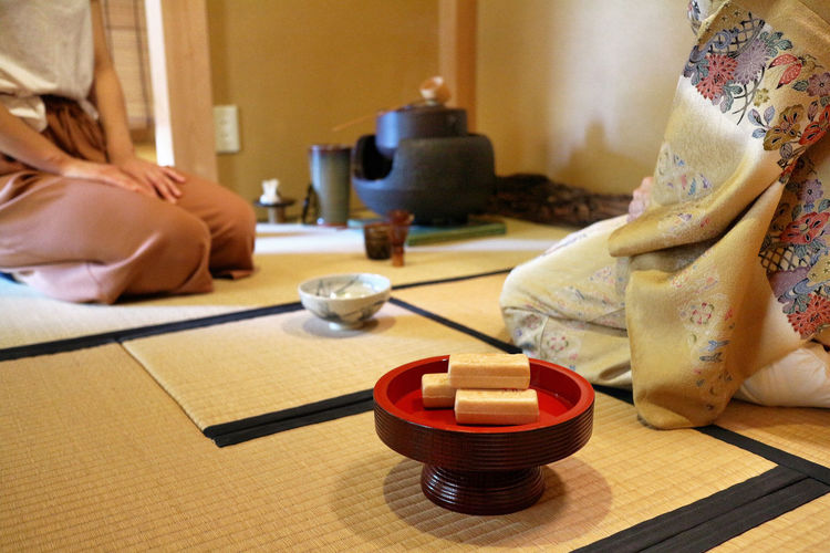 Close-up of japanese tea ceremony