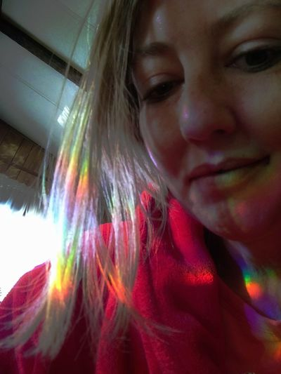 Rainbow In My Hair!!! Light Coming in The Window Shining a Rainbow in my hair!!! Only Women One Person One Woman Only Headshot One Young Woman Only Multi Colored People Young Adult Young Women Indoors  Close-up Beautiful Woman Women Pattern The Week On EyeEm Popular Photographs EyeEm Gallery Check This Out! Point Of View Abstract Expressionism Interesting Perspectives Indoors  Rainbow Hair Rainbow Colors Rainbow Indoor Paint The Town Yellow