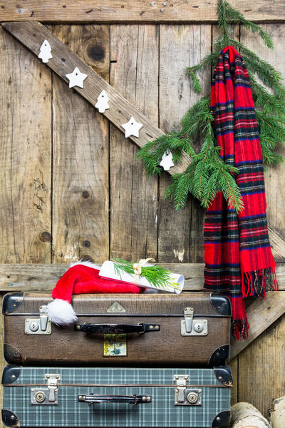 Christmas Christmas Gifts Christmas Tree Hat Santa Claus Letter To Santa Claus Merry Christmas Natural Wood Nature Old Boards Old Suitcases Raw Wood Santa Claus Santa Outfit Scandinavian Style Tree Ornaments Vintage Wooden Background Wooden Christmas Decorations Wooden Christmas Ornaments