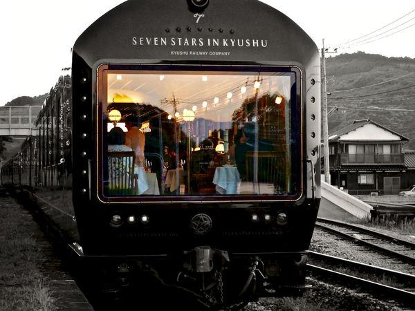 My Best Photo 2015 Okusa eki(大草駅), Nagayo-Nagasaki Line. JR Kyushu (Kyushu Railway Company) . Design & Story TRAIN ななつ星 Design by 水戸岡鋭治 Eiji Mitooka+Don Design Associates. Colorsplash CRUISE TRAIN / SEVEN STARS IN KYUSHU (NANATSU-BOSHI) Gorgeous Happy Encounter Mode Of Transport Partcolor Perspective Picture Frame Luxury Train