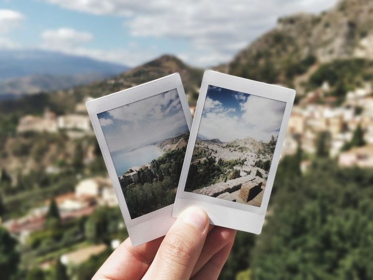 instant Outdoor Photography Through Beachphotography Pixel Pixelmastercamera Instax Lomography Landscape Ancient Italian Polaroid Human Hand Holding Human Body Part One Person Human Finger Focus On Foreground Picture Frame Photograph Close-up Nature Outdoors People Day Adult Sky EyeEm Ready   Go Higher The Traveler - 2018 EyeEm Awards