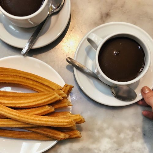 Spanish Breakfast Hot Chocolate Churros Food And Drink Cup Drink Mug Food