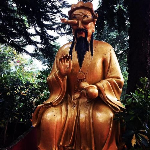 Buddastatue Green Color High Angle View Monastery Way Cloud - Sky China Hong Kong Sha Tin Beautiful Beatiful Hong Kong Tree Plant Front View One Person Shirtless Low Angle View Real People Lifestyles Leisure Activity Nature Representation Day Three Quarter Length Statue Human Representation Art And Craft Sculpture Male Likeness Growth EyeEmNewHere A New Beginning EyeEmNewHere