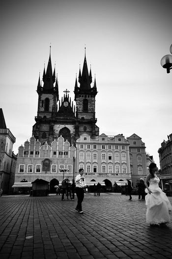 Famous Place Tourism History Capital Cities  Town Old Buildings Prague Bride