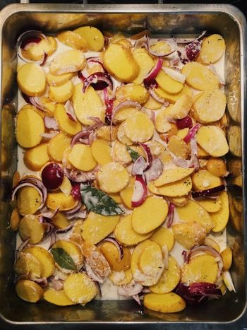 Dauphinois Sliced From Scratch Dinner Cooking At Home Cooking Baked Oven Cheese Gratin Potato Food Food And Drink Freshness Variation Indoors  Large Group Of Objects Dried Fruit Yellow Healthy Eating Ready-to-eat No People Bowl Close-up