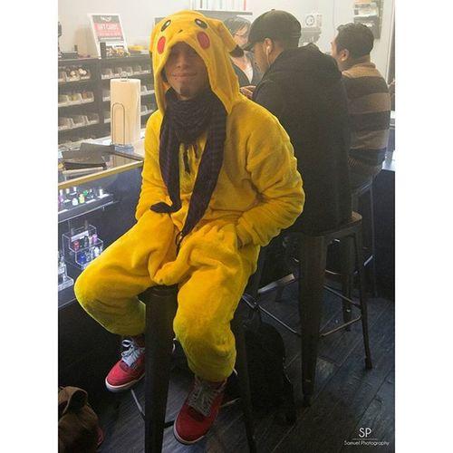 A wild Pikachu appears at the @beyondvape store Onesie Pajamas Beyondvape Nintendo Cosplay Cosplayphotography Cosplayphtos Vaping Vaplelyfe Vape Nikonphotography Nikonnyc Tokina Tokina1116 Nikon3200