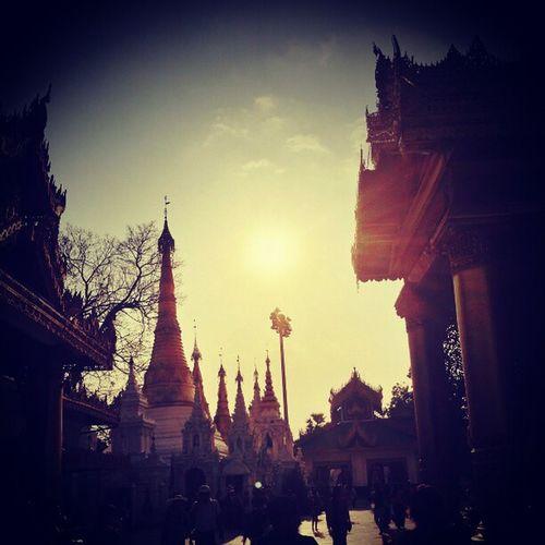 Pagoda Religious  Buddish Myanmar goldenshinebrightlightsunnyhotweatherpeopleswalkingholidayvisithangout