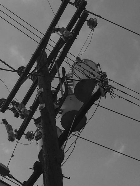 Telephone electric pole Low Angle View Power Supply Cable Power Line  Electricity  Connection Sky Fuel And Power Generation Complexity Electricity Pylon Technology Day No People Telephone Pole Outdoors Electric Pole Telephone Line Black & White John Wick John Wick Photography Johnwickphotography