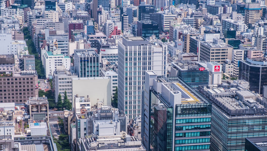 Overview of the packed Tokyo downtown, Japan Architecture Building City Cityscape Commercial Compact Concrete Concrete Jungle Development Downtown High Rise Japan Modern Offices Packed Real Estate Skyscrapers Sprawling Tokyo Urban
