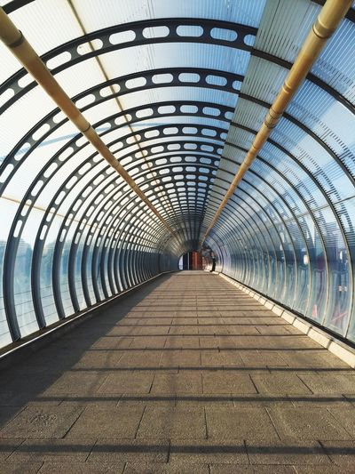 Footbridge at poplar station