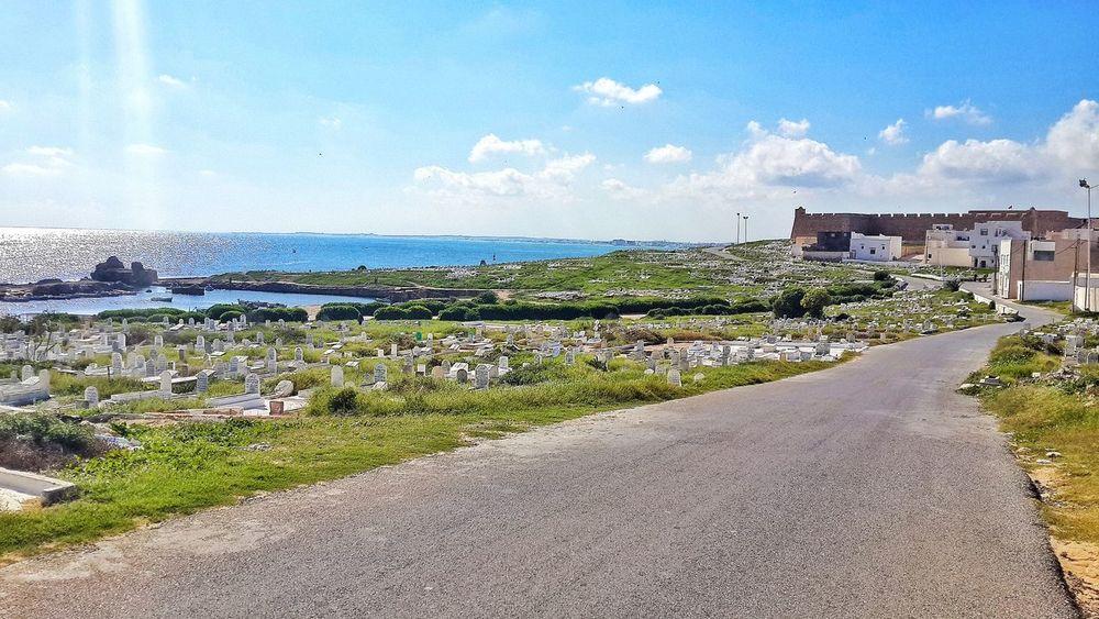 On the road ! 🚲 Beauty In Nature Sky Sea Sunlight Water Tunisia Mahdia Calm