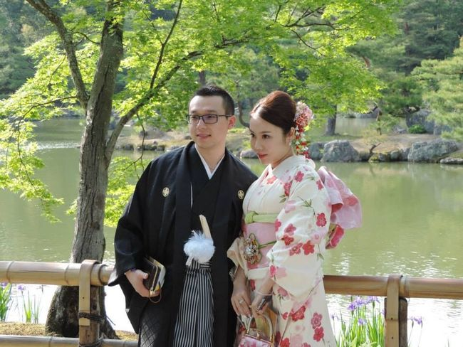 Giappone 2014 People At 鹿苑寺(金閣寺) Kinkaku-ji Temple