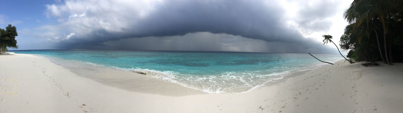 Maledives Wether Cloud - Sky Beach Sea No Filter, No Edit, Just Photography