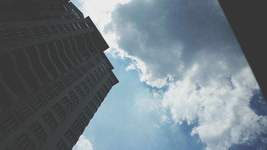 Negative Space Buildings & Sky Clouds