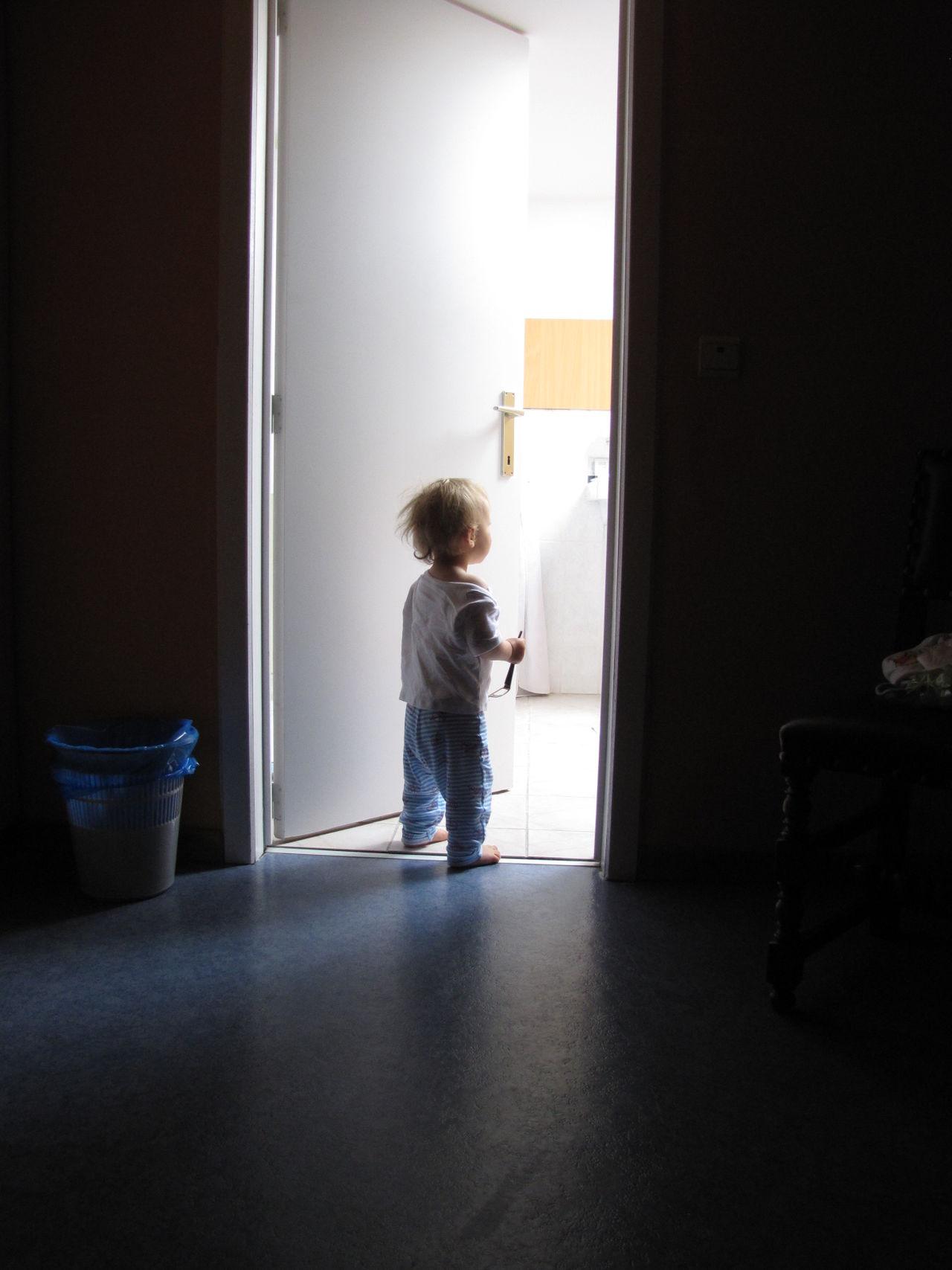childhood, child, full length, indoors, standing