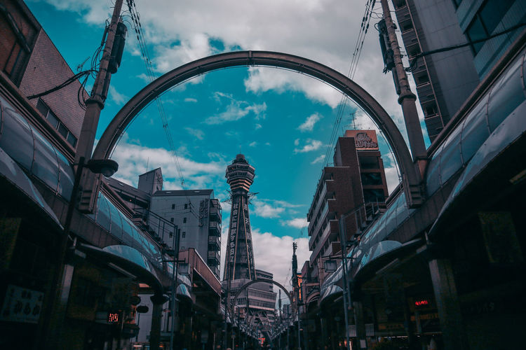 AMPt_community City City Life EyeEm Japan OSAKA Ultimate Japan Architecture Blue Building Building Exterior Built Structure City Cloud - Sky Day Lighting Equipment Low Angle View Nature No People Office Building Exterior Outdoors Shootermag Sky Skyscraper Streetphotography Thedarksquare Tower Transportation Travel Travel Destinations The Architect - 2018 EyeEm Awards 10