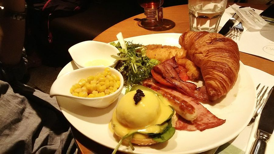 All Day Breakfast The Foodie - 2015 EyeEm Awards Egg Benedict Croissant Great Food Big Appetite Lunch Break Filet