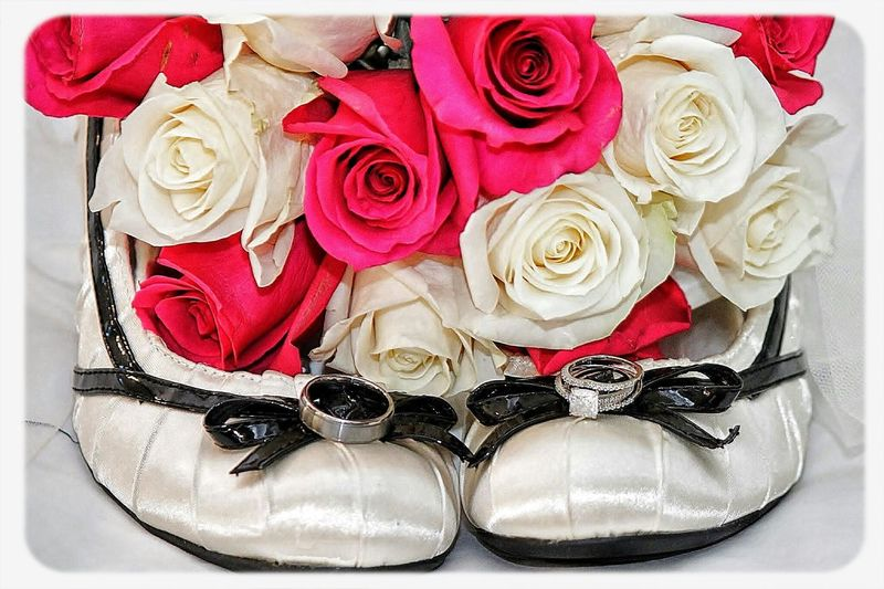 A beautiful set from a wedding day Wedding Photography In Her Shoes Flowers Wedding Rings