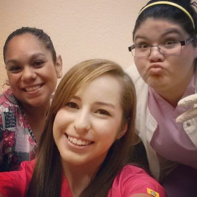 Taking pics in the lab! :) ScrubNation Peace Clinic Funatwork instagirls lalalaa