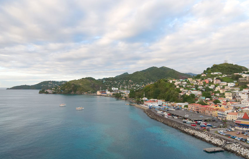 Grenada island - Saint George's town and bay - Caribbean tropical sea Antilles Architecture Beauty In Nature Building Exterior Built Structure Caribbean City Cloud - Sky Day George Grenada Island Mountain Nature Nautical Vessel No People Outdoors Saint Scenics Sea Sky Sunset Town Tropical Water