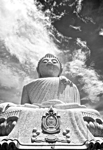 Big Buddha Big Buddha Temple Cloud - Sky Place Of Worship Sky Sky And Clouds Statue Temple