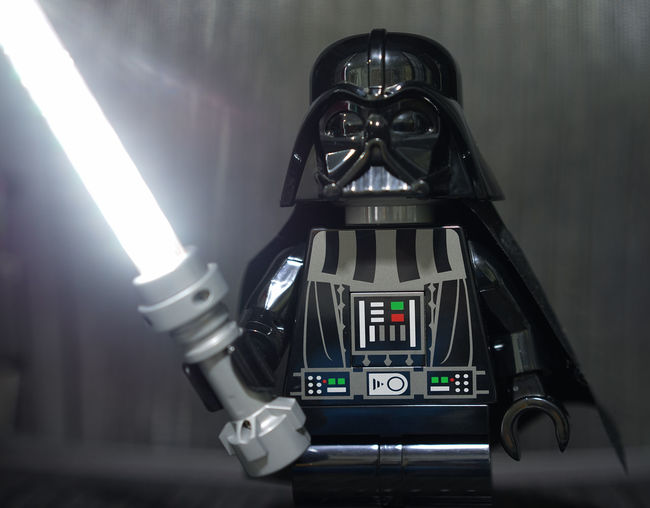 Dark Vader Lego Toy Close-up Dark Vader Illuminated Indoors  Lamp LEGO Lightsaber Starwars Toy Toy Photography Sony A7r