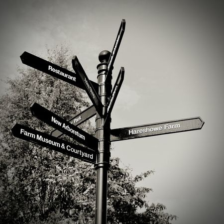 SignSignEverywhereASign Black & White Sign Post Road To Nowhere Walk This Way
