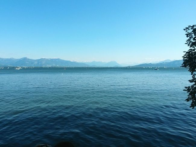 Water Nature Beauty In Nature Blue Sea Scenics Clear Sky Tranquility No People Tranquil Scene Mountain Sky Outdoors Landscape Rippled Day Tree Bodensee Bodenseeregion Live For The Story