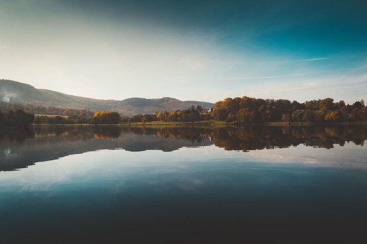 burgandy - France - 2016 ©sebastien.rossi Bourgogne France Burgandy Lake Landscape Reflection Reflection Lake Sky Water