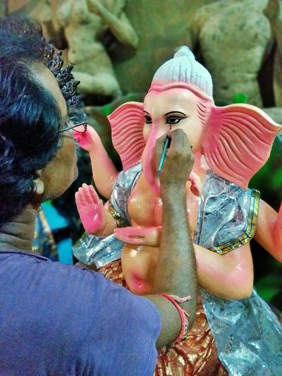 All set for Ganesh Puja 2017... Ganapati Bappa Morya....! Ganapathi-bhappa-mouriya GaneshChaturthi Ganeshfestival Ganesha Lord Of Success Ganesha Portrait Close-up Lifestyles Art Is Everywhere ArtWork Artistic Art Photography Festive Season