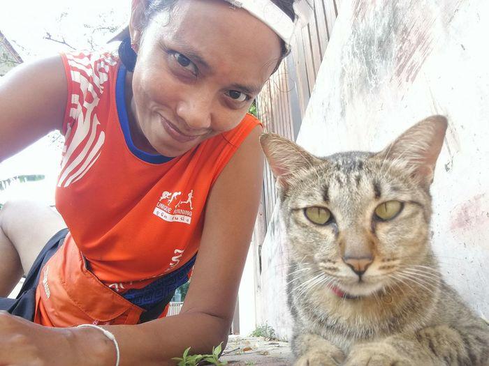 Cat & human