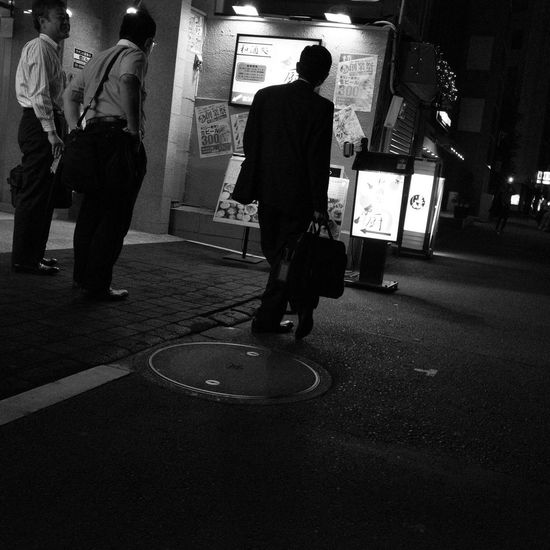 CityWalk Snapshot People People Photography Night On The Road City Street Nightphotography Night Lights Drinking Coming Home Streetphoto_bw Streetphotography_bw B&w Street Photography Blackandwhite Black And White Black & White Toranomon 虎ノ門 Tokyo Japan