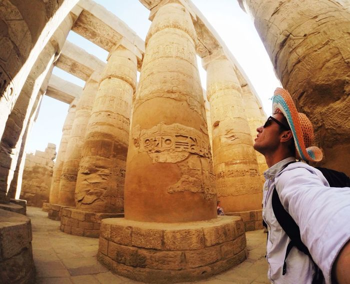 Luxor EyeEmNewHere EyeEm Best Shots Old Ruin Ancient Archaeology Travel Destinations Religion Ancient Civilization Architecture One Person History Tourism Travel One Man Only Spirituality Built Structure Adult Men Architectural Column Statue