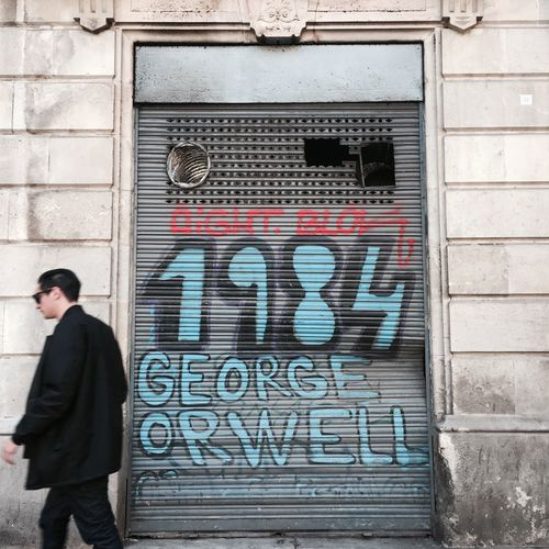George Orwell Street Art Orwell 1984 Candid Street Photography Streetphotography Art Colour Barcelona