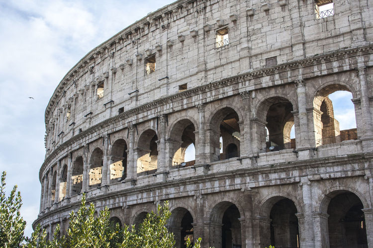 When in Rome, see the Colosseum. Amphitheater Ancient Ancient History Arch Architecture Arts Culture And Entertainment Building Exterior Built Structure Cloud - Sky Colosseum Day History Low Angle View No People Old Ruin Outdoors Roma Rome Rome Italy Sky Tourism Travel Travel Destinations
