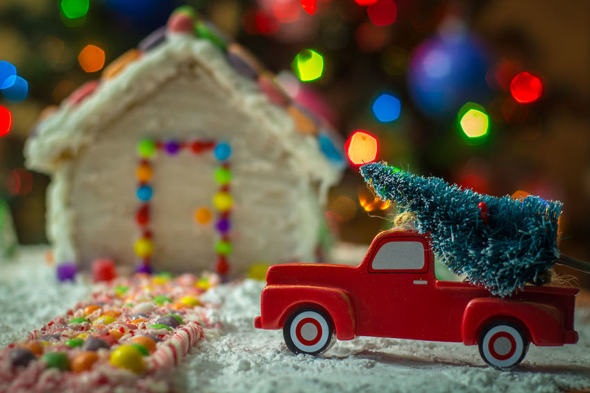Christmas tree for the gingerbread house Gingerbread Holiday Food Winter Snow Truck Gingerbreadhouse Gingerbread House Red Truck Background Christmas Bokeh Christmas Tree Holidays EyeEm Selects Food Bokeh Candy Cane Candy Candycane  Treat Night Before Christmas Toy Red Multi Colored Christmas Decoration Christmas Defocused No People Close-up
