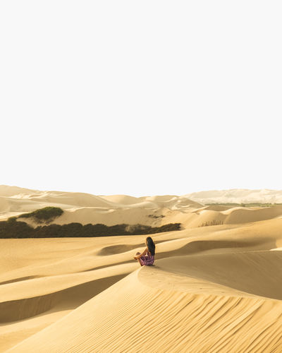 Scenics - Nature Desert Real People Sand Dune Sand Climate Land Nature Arid Climate Ice Sand Dunes Peru Peruvian Ica Laguna Moron Moron Oasis Oasis In The Desert One Person Beauty In Nature Leisure Activity Tranquility Lifestyles Remote