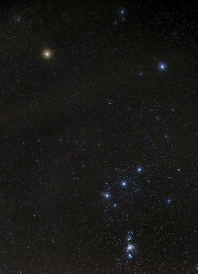 orion and some friends within. 5 minute exposure. canon 750d sigma 17-70mm. skywatcher neq6 Long Exposure Orion Horsehead Nebula Horsehead Flame Nebula Betelgeuse Orions Belt Orion Hunter The Hunter Sky Awe Majestic Milky Way Beauty Outdoors Star - Space Astronomy Night Space Space Exploration Galaxy Constellation Luminosity Infinity No People Illuminated Globular Star Cluster