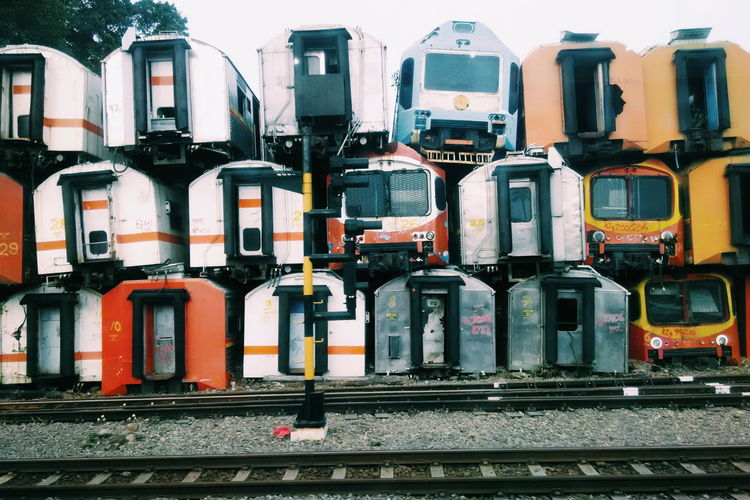 Piles of trains