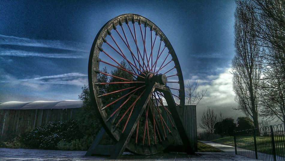 Mine Giant Wheel Pit Wheel Memories Miners Wheel Miners Sky Porn Blue Sky Getting In Touch Enjoying The Sun
