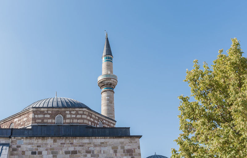 Mevlana museum in Konya,Turkey. Konya Mevlana Mevlana Mosque Mevlana Türbesi MevlanaRumi Mevlana Museum Turkey Building Exterior Built Structure Architecture Sky Religion Place Of Worship Belief Nature Spirituality Tree Building Clear Sky Low Angle View Blue No People Plant Travel Destinations Day Outdoors Spire