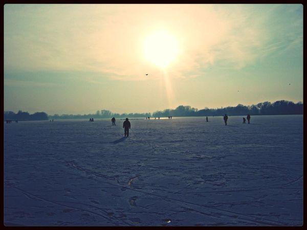 Winter Wonderland Lake Salzgitter Winter in Sslzgitter_Germany